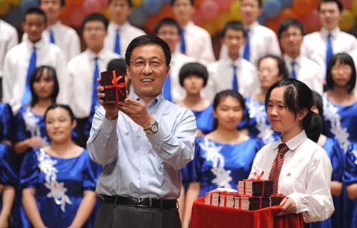 """韩正/""""3个月前,台北中山女高大礼堂的掌声我印象深刻,今天你们作为..."""
